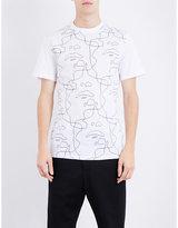 Neil Barrett Face-print Cotton-jersey T-shirt