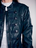 Free People Military Vegan Leather Jacket