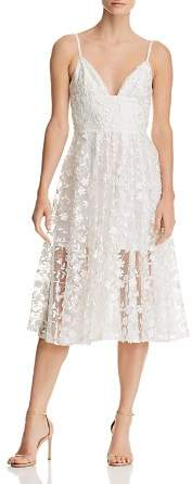 Lee SAU Daisy Illusion Midi Dress