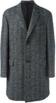 Lanvin long sleeved overcoat - men - Nylon/Viscose/Wool - 50
