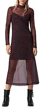 AllSaints Hanna Stanza Mesh Dress