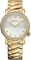Juicy Couture Women's La Luxe Gold-Tone Stainless Steel Bracelet Watch 36mm 1901488