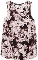 Banana Republic LIFE IN MOTION Floral Washable Stretch Silk Tank