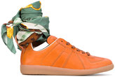 Maison Margiela Replica sneakers with ankle tie - women - Silk/Calf Leather/Leather/rubber - 36