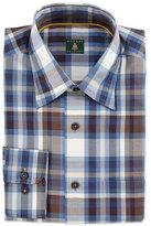 Robert Talbott Check Woven Dress Shirt, Navy