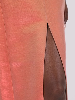 MARKARIAN Mercury Metallic Peach Corset Dress