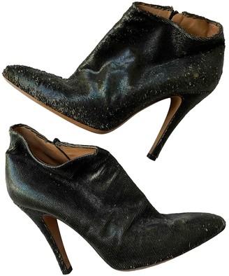 Maison Margiela Khaki Glitter Ankle boots