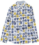 Fendi Blue and Yellow Multi Print Shirt