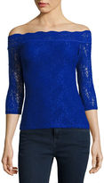 Decree Off-Shoulder Lace Bodycon Top - Juniors