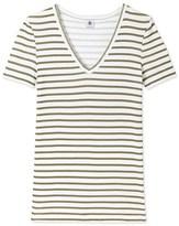 Petit Bateau Womens short-sleeved V-neck T-shirt