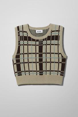 Weekday Cher Wool Vest - Beige
