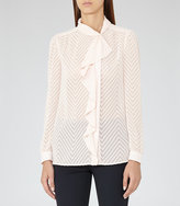 Reiss Price Textured Blouse