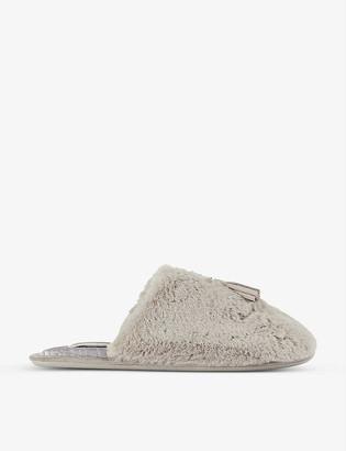 Ted Baker Tassel-embellished faux-fur slippers