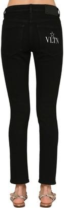 Valentino Vltn Star Print Skinny Denim Jeans