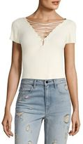 Alexander Wang T by Cotton Cashmere Cropped Top