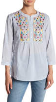 Romeo & Juliet Couture Pinstripe Embroidered Tunic