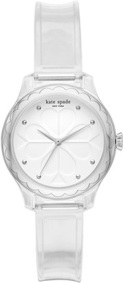 Kate Spade Rosebank Transparent Strap Watch, 32mm