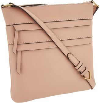 Vera Bradley Leather Mallory Triple Zip Hipster Bag