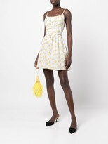 Thumbnail for your product : HVN Daisy-Print Ruched Dress