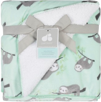 Just Born Baby Sloth Suede Plush Blanket