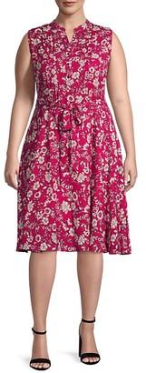 Nanette Nanette Lepore Plus Floral Shirtdress