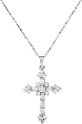 Emotions Sterling Silver Cubic Zirconia Cross Pendant