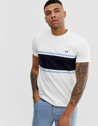 Fred Perry panel t-shirt in white