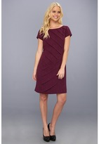 Ellen Tracy Short Sleeve Shutter Dress Women's Dress