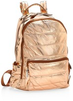 Bari Lynn Rose Goldtone Puffy School Backpack