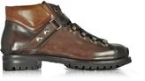 Santoni Color Block Leather Men's Ankle Boots