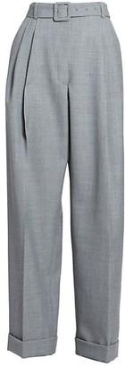 Dries Van Noten Wide-Leg Cropped Trousers