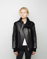 Sacai Bonded Leather Moto Jacket