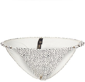 ViX by Paula Hermanny Margot Dot Print Beaded Bikini Bottoms