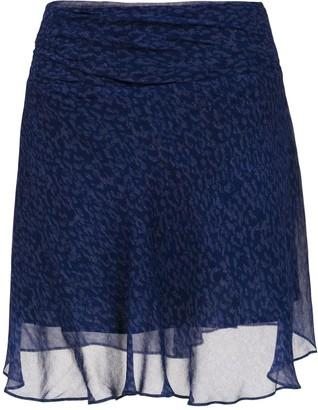 Tufi Duek Printed A-Line Skirt