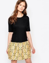 Traffic People Changeling Dress With Jacquard Skirt