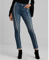 Express high waisted fringe original vintage skinny jeans