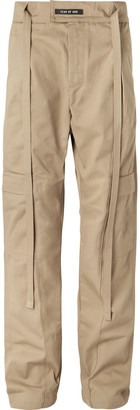 Fear Of God Belted Pleated Cotton-Twill Cargo Trousers - Men - Neutrals