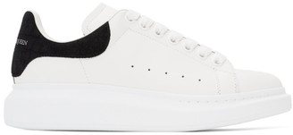 Alexander McQueen White and Black Croc Oversized Sneakers