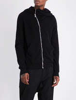 Rick Owens Diagonal-zip cotton jacket