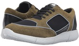 Just Cavalli Small Python Printed Nubuck and Neoprene Sneakers Men's Shoes