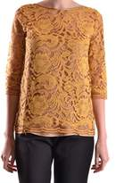 Liviana Conti Women's Yellow Cotton Top.
