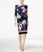 INC International Concepts Petite Floral-Print Sheath Dress, Only at Macy's