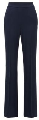 HUGO BOSS Relaxed Fit Pants With High Rise Waistband - Open Blue