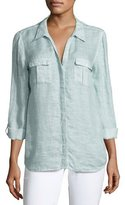 Joie Booker Linen Safari Shirt, Blue