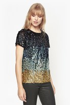 French Connection Cosmic Beam Sequin Top