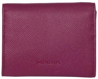Mocha Envelop Leather Coin Wallet - Fuchsia