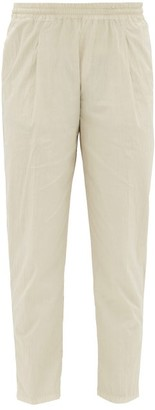The Gigi - Stretch-cotton Seersucker Track Pants - Mens - Light Grey