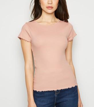 New Look Frill Trim Cap Sleeve T-Shirt