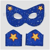 Cat & Jack Girls' Dress Up Super Hero Mask and Cuff - Cat & Jack Blue