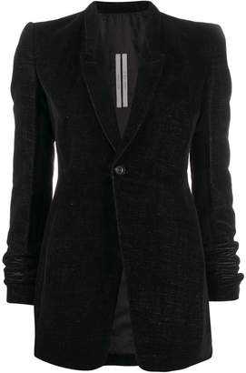 Rick Owens slim-fit below-the-hip blazer